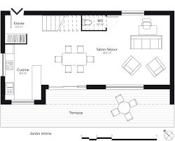plan de maison avec cuisine ouverte cuisine ouvert sur salon 11 plan maison 224 233tage 110 m178