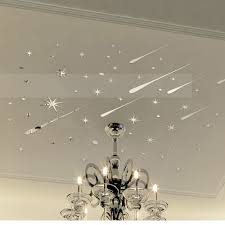 Chandelier Wall Stickers Funlife 3d Meteor Stars Universe Shooting Shiny Mirror Wall