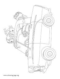 despicable minions driving coloring coloring