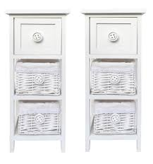White Bedroom Drawer Units Chic Slim White 3 Chest Of Drawer Hallway Bedroom Bedside Table