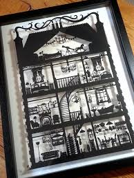 dolls house black hand designed laser cut by paperpandacuts on