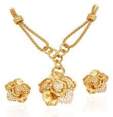 Buy Designer Gold Plated Golden Golden Essentials 22k Gold Plated Beautiful Modern Flower Design