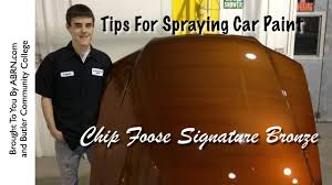 spraying chip foose u0027s bronze base coat foose signature paint