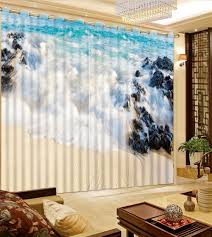 Modern Living Room Curtains by Online Get Cheap Waves Curtains Aliexpress Com Alibaba Group