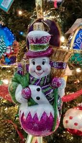 frosty shopper christmas ornament by christopher radko at horchow