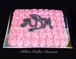 rosette sheet cake million dollar desserts sheet cakes