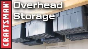 Garage Shelves Diy by Garage Organization Ideas Diy Overhead Garage Storage Craftsman
