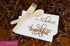 gold embossed thanksgiving paper napkins at craftaholics anonymous