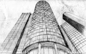 tall buildings sketch skyscrapers pencil drawing by amndesigns