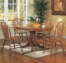 Pedestal Kitchen Table And Chairs - mackinaw oval single pedestal table with leaf casual kitchen