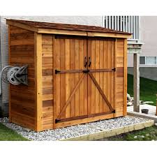 placing outdoor bike storage shed in garden landscape home