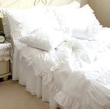 Ruffle Duvet Cover King Lace Quilts Bedspreads 4 Pcs Ruffle Bed Cover Bed Linen Bedding