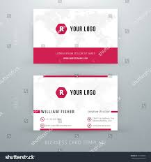 Simple Business Cards Templates Modern Simple Business Card Template Vector Stock Vector 217628956