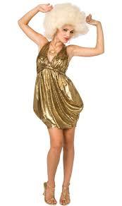 Disco Halloween Costume Gold Disco Dress Wanna Disco Party