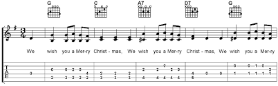 we wish you a merry free guitar sheet and mp3