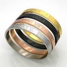 rose stainless steel bracelet images New stainless steel rose gold silver couples bracelet carving jpg