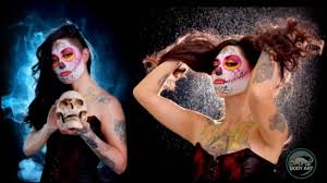 body painting halloween costumes catrina 2016 neon underground body paint youtube