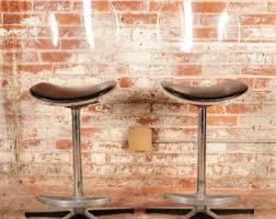 vintage lucite bar stools etsy
