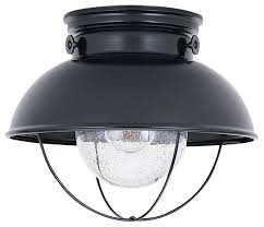 Outdoor Flush Mount Ceiling Light 1 Light Outdoor Ceiling Flush Mount Beach Style Outdoor Flush
