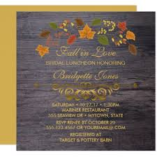 bridal luncheon gifts fall in bridal luncheon rustic wedding shower card wedding