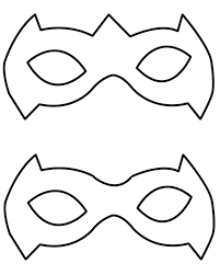 mask template robin mask template clipart panda free clipart images