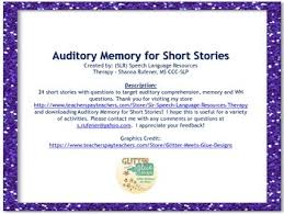 24 short stories with questions to target auditory comprehension