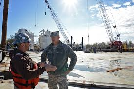 Louisiana work and travel images La guardsmen continue building monitoring flood barriers jpg