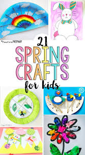 21 spring crafts for kids spring flowers and for kids