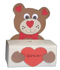 bear box craft for valentine u0027s cards