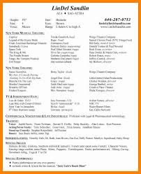 6 musical theatre resume template doctors signature musical theatre resume exles resume peppapp