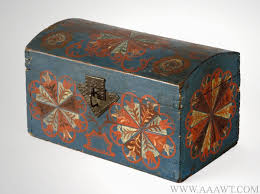 Pennsylvania travel box images Antique dometop trunks painted storage boxes painted travel jpg