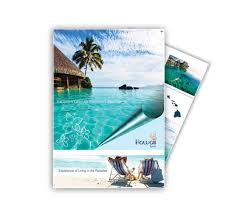 island brochure template best island journey with poster design brochure templates