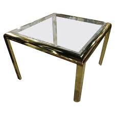 dia brass dining game table vintage hollywood regency design