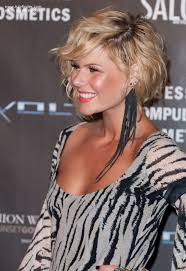hairstyles short one sie longer than other kimberly caldwell s short asymmetrical haircut with one side