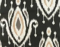 Drapery And Upholstery Fabric Ikat Fabric Etsy