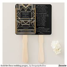 deco wedding program gold deco wedding program fan program fans wedding programs