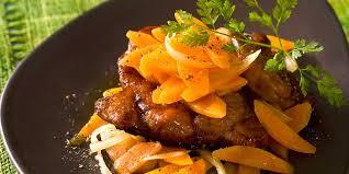 comment cuisiner le jarret de veau jarret de veau aux carottes facile recette sur cuisine actuelle