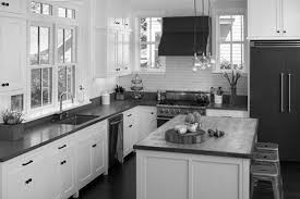 Black Kitchen Cabinets White Subway Tile Modern Kitchen Cherry Cabinets With White Subway Tile Backsplash