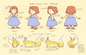acorns a short film by gemma roberts model sheets seasons