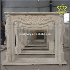 European Style by Special Supply Stone Fireplace Cream Colored European Style Mantel