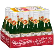 bulk sparkling cider martinelli s sparkling cider 250ml glass bottle 12 pk sam s club