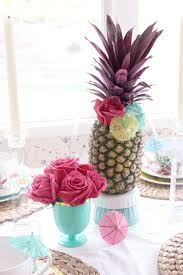 Pineapple Decoration Ideas Decorating Ideas Summer Tablescape Zoe With Love