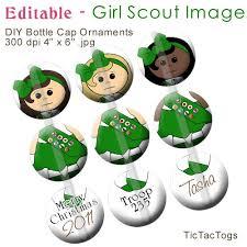 editable green scout ornament bottle cap images digital 1