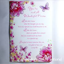 greeting card wonderful person inspirational meaningful greeting card