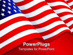 Red White Striped Flag Powerpoint Template American Flag Patriotic Background With Stars