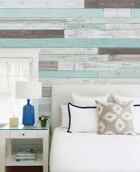temporary peel off wall paint reclaimed painted beach wood mural wall art wallpaper peel and stick