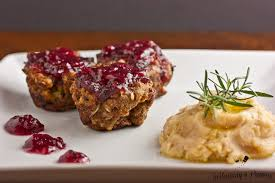 turkey and meatloaf muffins with cranberry glaze