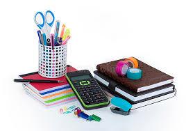 fournitures bureau fournitures de bureau d école et image stock image du bureau