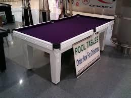slate top pool table npc pool table 7ft slate top white with purple cloth