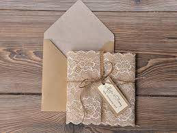 burlap wedding invitations custom listing 100 eco recycling lace wedding invitation
